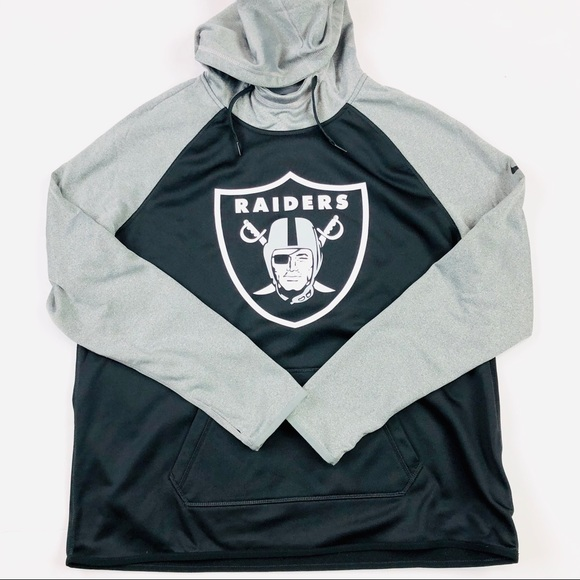 new styles c8acf 7fd82 Nike NFL therma fit Oakland raiders hoodie